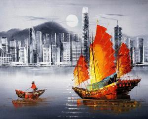 Картина по номерам MG2164 Ночной Гонконг