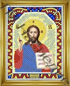 Алмазная мозаика с рамкой Господь Вседержитель 12х15 см ТМ Наследие