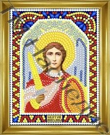 Алмазная мозаика с рамкой Михаил 12х15 см ТМ Наследие