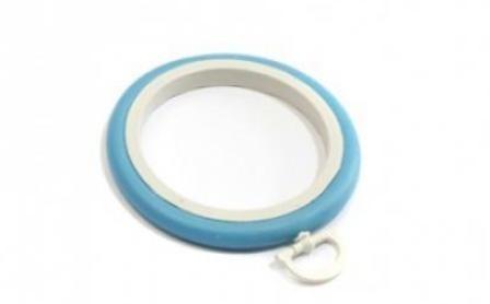 Пяльцы-рамка круг 6,5 см, BLITZ, голубой