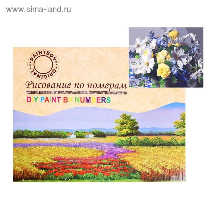 Картина по номерам на холсте Белые цветы 40х50 см GX34256