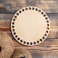 Заготовка для вязания Круг, донышко фанера 3 мм, 15 см, d=9мм