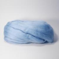 Шерсть для валяния, лента гребенная, Камтекс, полутонкая, 50г (015 голубой)