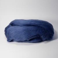 Шерсть для валяния, лента гребенная, Камтекс, полутонкая, 50г (022 джинса)
