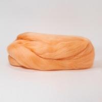 Шерсть для валяния, лента гребенная, Камтекс, полутонкая, 50г (036 абрикос)