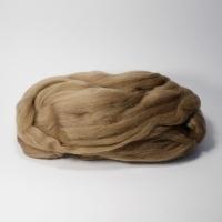 Шерсть для валяния, лента гребенная, Камтекс, полутонкая, 50г (039 табак)