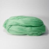 Шерсть для валяния, лента гребенная, Камтекс, полутонкая, 50г (045 зеленое яблоко)