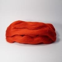 Шерсть для валяния, лента гребенная, Камтекс, полутонкая, 50г (046 красный)