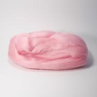 Шерсть для валяния, лента гребенная, Камтекс, полутонкая, 50г (055 св.розовый)