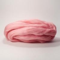 Шерсть для валяния, лента гребенная, Камтекс, полутонкая, 50г (056 розовый)
