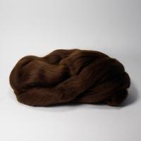 Шерсть для валяния, лента гребенная, Камтекс, полутонкая, 50г (063 шоколад)