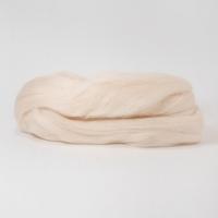 Шерсть для валяния, лента гребенная, Камтекс, полутонкая, 50г (080 экрю)