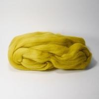 Шерсть для валяния, лента гребенная, Камтекс, полутонкая, 50г (099 горчица светлая)