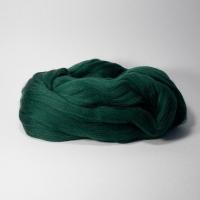 Шерсть для валяния, лента гребенная, Камтекс, полутонкая, 50г (110 зеленый)