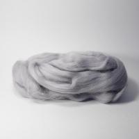 Шерсть для валяния, лента гребенная, Камтекс, полутонкая, 50г (168 серый св)