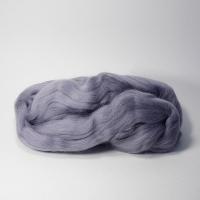Шерсть для валяния, лента гребенная, Камтекс, полутонкая, 50г (169 серый)