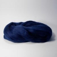Шерсть для валяния, лента гребенная, Камтекс, полутонкая, 50г (173 синий)
