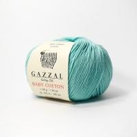 Пряжа Gazzal Baby Cotton (3452 светлая бирюза)