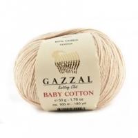 Пряжа Gazzal Baby Cotton (3445 светло-бежевый)