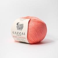 Пряжа Gazzal Baby Cotton (3460 коралловый)
