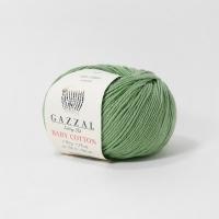 Пряжа Gazzal Baby Cotton (3448 зелёный)
