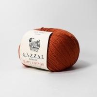 Пряжа Gazzal Baby Cotton (3453 кирпичный)