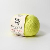 Пряжа Gazzal Baby Cotton (3462 салатово-жёлтый неон)