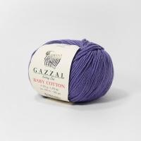 Пряжа Gazzal Baby Cotton (3440 тёмно-сиреневый)
