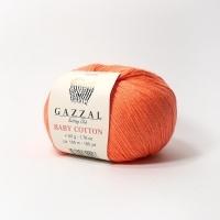 Пряжа Gazzal Baby Cotton (3459 ярко-коралловый)