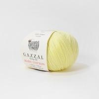 Пряжа Gazzal Baby Cotton (3413 светло-жёлтый)