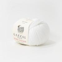 Пряжа Gazzal Baby Cotton (3432 белоснежный)