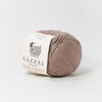 Пряжа Gazzal Baby Cotton (3434 кофе с молоком)