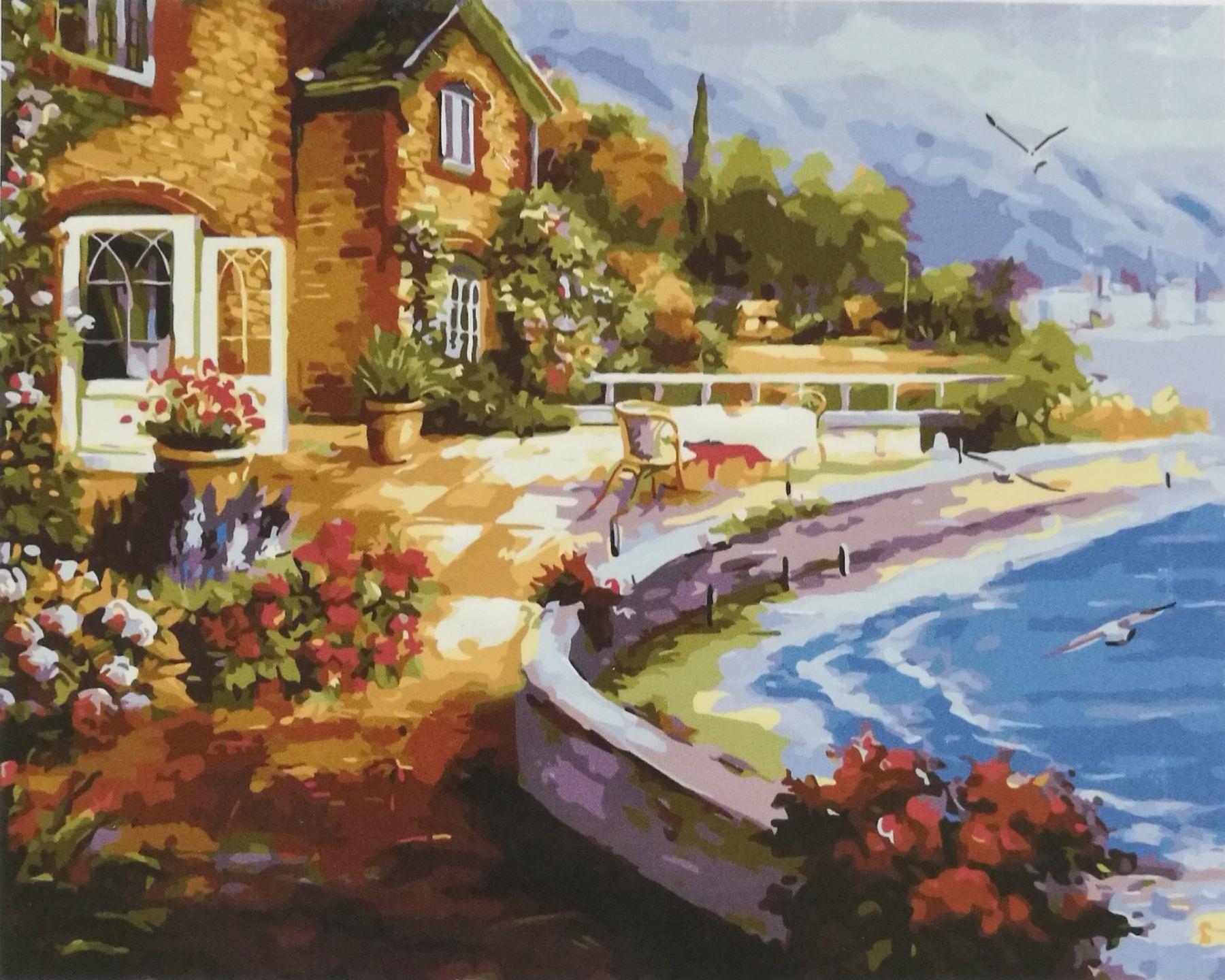Картина по номерам GX 36468 Цветочный берег 40х50