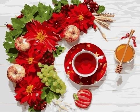 Картина по номерам GX 34871 Чай с медом 40х50