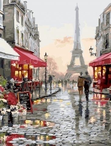 Картина по номерам GX 34536 Париж после дождя 40х50