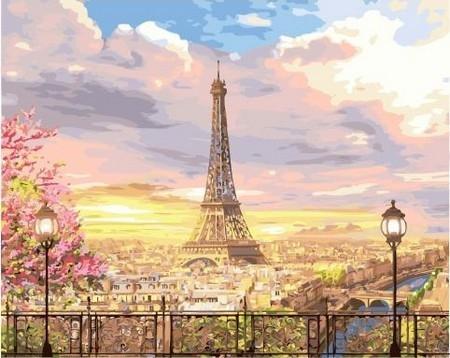 Картина по номерам GX 35205 Прекрасное небо Парижа 40х50
