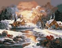 Картина по номерам GX 36447 Волшебная деревушка 40х50