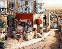 Картина по номерам GX 36449 Городская улочка 40х50