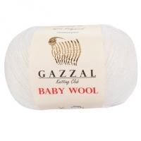 Пряжа Gazzal Baby Wool (801 белый)