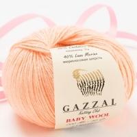 Пряжа Gazzal Baby Wool (834 персиковый)