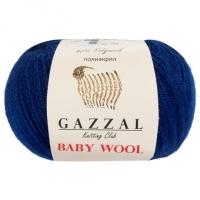 Пряжа Gazzal Baby Wool (802 синий)