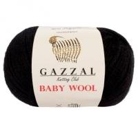 Пряжа Gazzal Baby Wool (803 черный)