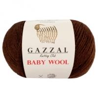 Пряжа Gazzal Baby Wool (807 коричневый)