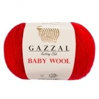 Пряжа Gazzal Baby Wool (811 красный)