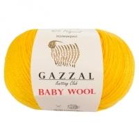 Пряжа Gazzal Baby Wool (812 желтый)