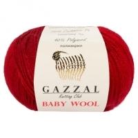 Пряжа Gazzal Baby Wool (816 т.красный)