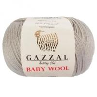 Пряжа Gazzal Baby Wool (817 светло-серый)