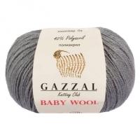 Пряжа Gazzal Baby Wool (818 т.серый)