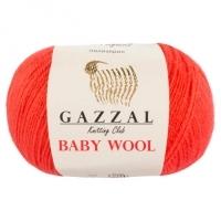 Пряжа Gazzal Baby Wool (819 розовый коралл)