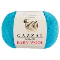 Пряжа Gazzal Baby Wool (820 серо-голубой)